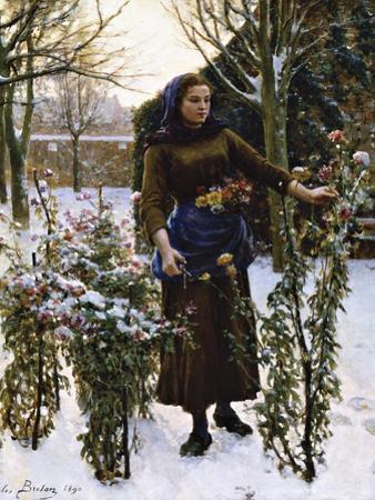 Last Flowers, 1890 by Jules Breton
