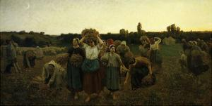 Le Rappel Des Glaneuses (Return of the Gleaners), 1859 (Mi 289) by Jules Breton