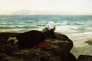 Looking Out to Sea by Jules Breton