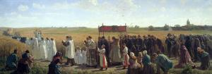 The Blessing of the Wheat in the Artois, 1857 by Jules Breton