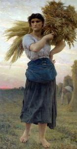 The Gleaner, 1877 by Jules Breton