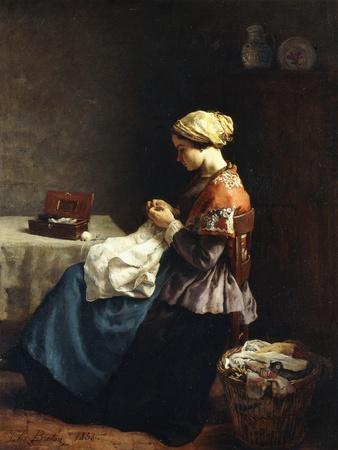 The Little Seamstress, 1858