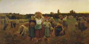 The Return of the Gleaners, c.1859 by Jules Breton