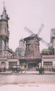 1889 Carte Postal colorée Moulin Rouge by Jules Ch?ret