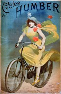 """Advertising for """"Humber Cycles"""" by Jules Ch?ret"""