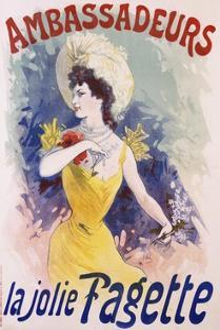 Ambassadeurs: La Jolie Fagette Poster by Jules Ch?ret