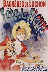 Bagneres De Luchon Fete Des Fleurs Poster by Jules Ch?ret