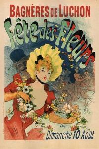 Bagneres-De-Luchon in the Flower Festival by Jules Ch?ret