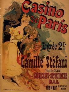 Casino De Paris; Camille Stefani by Jules Ch?ret