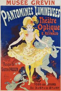 French Poster for Early Motion Picture Pantommes Lumineuses by Jules Ch?ret