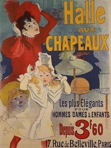 Halle aux Chapeaux, circa 1892 by Jules Ch?ret
