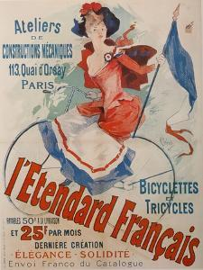 L'Etendard Français Bicycles by Jules Ch?ret