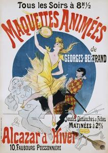 Maquettes Animees De Georges Bertrand Poster by Jules Ch?ret