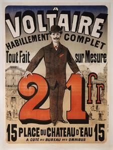 Poster Advertising 'A Voltaire', C.1877 by Jules Ch?ret