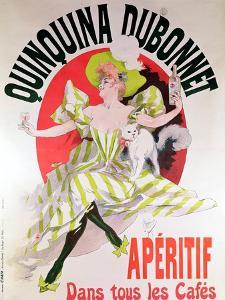 "Poster Advertising ""Quinquina Dubonnet"" Aperitif, 1895 by Jules Ch?ret"