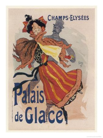 Poster for the Fashionable Palais De Glace in the Champs Elysees Paris