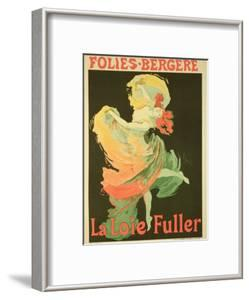 "Reproduction of a Poster Advertising ""Loie Fuller"" at the Folies-Bergere, 1893 by Jules Ch?ret"