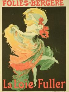 """Reproduction of a Poster Advertising """"Loie Fuller"""" at the Folies-Bergere, 1893 by Jules Ch?ret"""