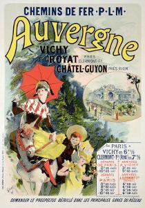 """Reproduction of a Poster Advertising the """"Auvergne Railway,"""" France, 1892 by Jules Ch?ret"""