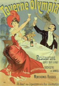 """Reproduction of a Poster Advertising the """"Taverne Olympia,"""" Paris, 1899 by Jules Ch?ret"""