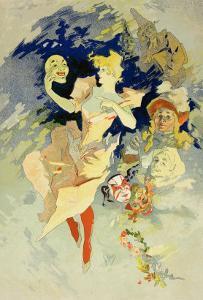 """Reproduction of """"La Danse,"""" 1891 by Jules Ch?ret"""