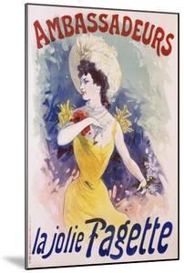 Ambassadeurs: La Jolie Fagette Poster by Jules Chéret