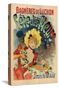 Bagneres-De-Luchon in the Flower Festival by Jules Chéret