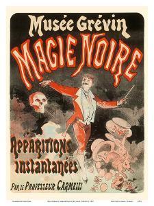 Black Magic (Magie Noire) - by Professor Carmelli - Instantaneous Apparitions by Jules Chéret