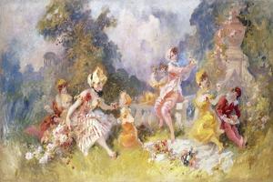 Dejeuner Sur L'Herbe, C.1894 by Jules Chéret