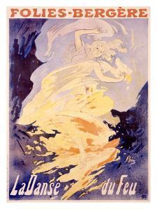 Folies-Bergere, La Danse du Feu by Jules Chéret