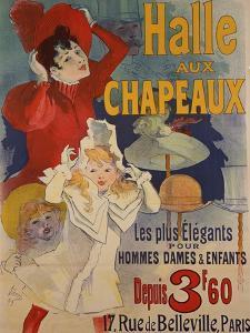 Halle aux Chapeaux, circa 1892 by Jules Chéret
