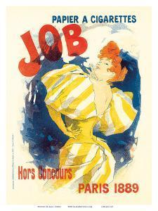 Job Paris, Art Nouveau, La Belle Époque by Jules Chéret