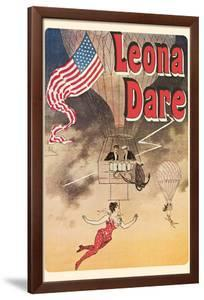 Leona Dare, Queen of the Antilles - Trapeze Artist by Jules Chéret