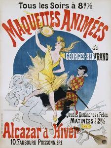 Maquettes Animees De Georges Bertrand Poster by Jules Chéret