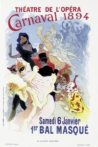 Poster Advertising a Masked Ball and Carnival, at the Theatre De L'Opera, 1894 by Jules Chéret