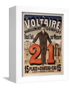 Poster Advertising 'A Voltaire', C.1877 by Jules Chéret