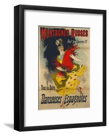 Poster Advertising 'Danseuses Espagnoles' at the Boulevard Des Capucines, Paris