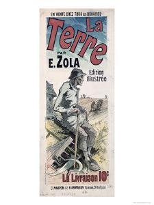 Poster Advertising La Terre by Emile Zola, 1889 by Jules Chéret