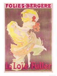Poster Advertising Loie Fuller at the Folies Bergeres, 1897 by Jules Chéret