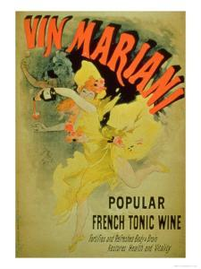 """Poster Advertising """"Mariani Wine, Popular French Tonic Wine"""" by Jules Chéret"""