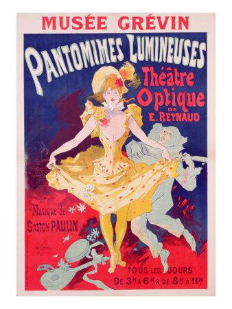 Poster Advertising 'Pantomimes Lumineuses, Theatre Optique de E. Reynaud' at the Musee Grevin, 1892