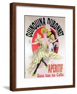"Poster Advertising ""Quinquina Dubonnet"" Aperitif, 1895 by Jules Chéret"