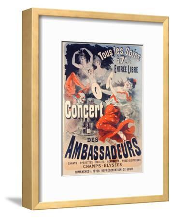 Poster Advertising the Concert Des Ambassadeurs, 1884