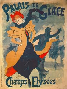 Poster Advertising the Palais De Glace on the Champs Elysees by Jules Chéret