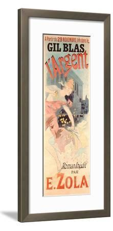 Poster Advertising the Play 'L'Argent' Written by E. Zola, C.1889