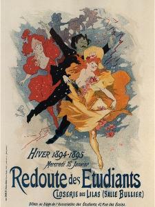 Redoute Des Etudiants by Jules Chéret