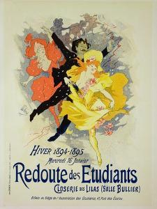 """Reproduction of a Poster Advertising a """"Student Gala Evening"""" by Jules Chéret"""