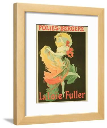 "Reproduction of a Poster Advertising ""Loie Fuller"" at the Folies-Bergere, 1893"