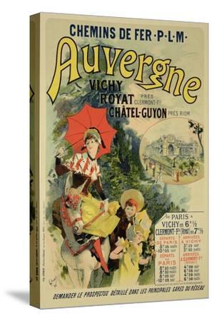 """Reproduction of a Poster Advertising the """"Auvergne Railway,"""" France, 1892"""