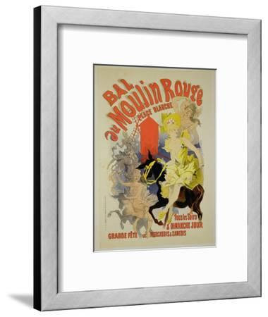 "Reproduction of a Poster Advertising the ""Bal Au Moulin Rouge,"" 1889"
